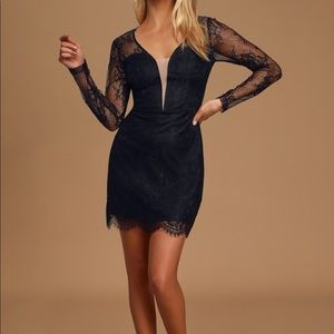 Ready or Hot Black Lace Long Sleeve Bodycon Mini